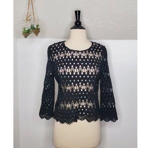 Fab'rik Sheer Crochet Lace Blouse